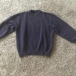 Dark Purple Oversized Sweater